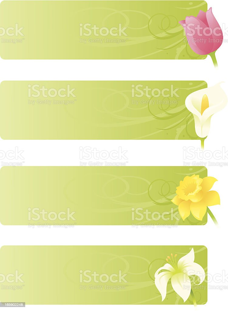 Floral Spring Banners vector art illustration