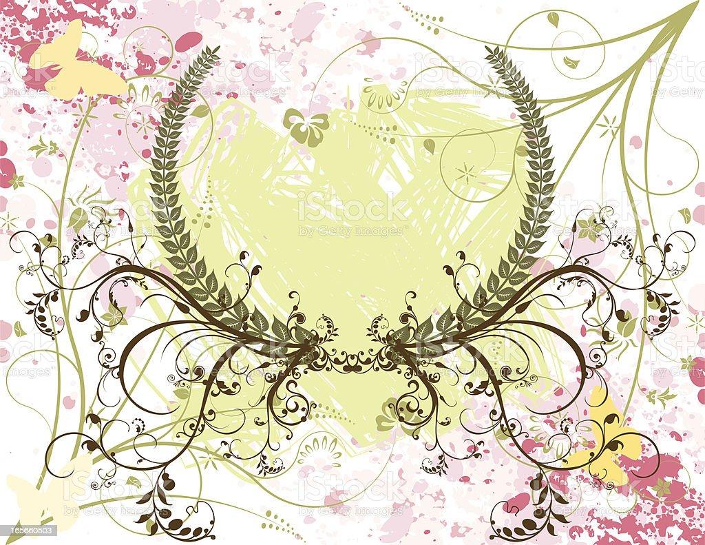 Floral Summer Design royalty-free stock vector art