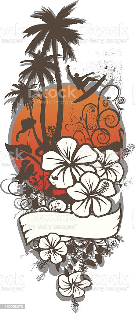 floral surf royalty-free stock vector art