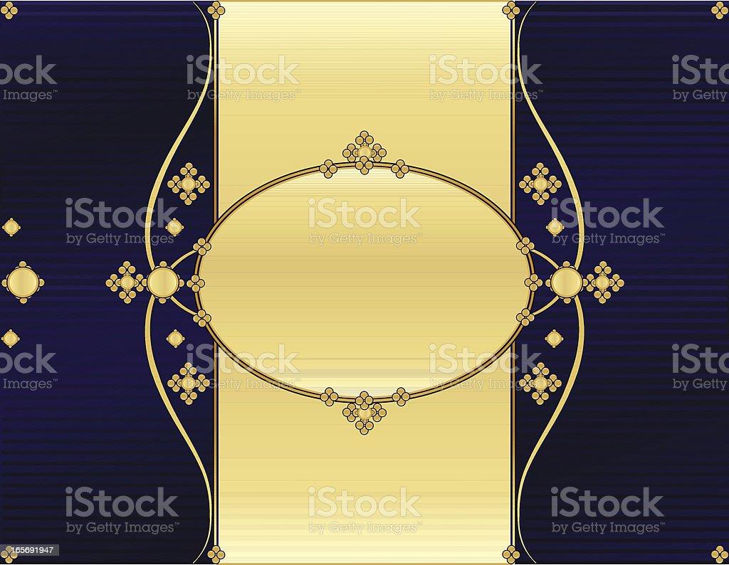 Floral Windung Hintergrund Design-Lila und glänzendes Gold Lizenzfreies vektor illustration