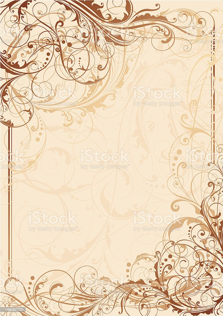Floral swirl background royalty-free stock vector art