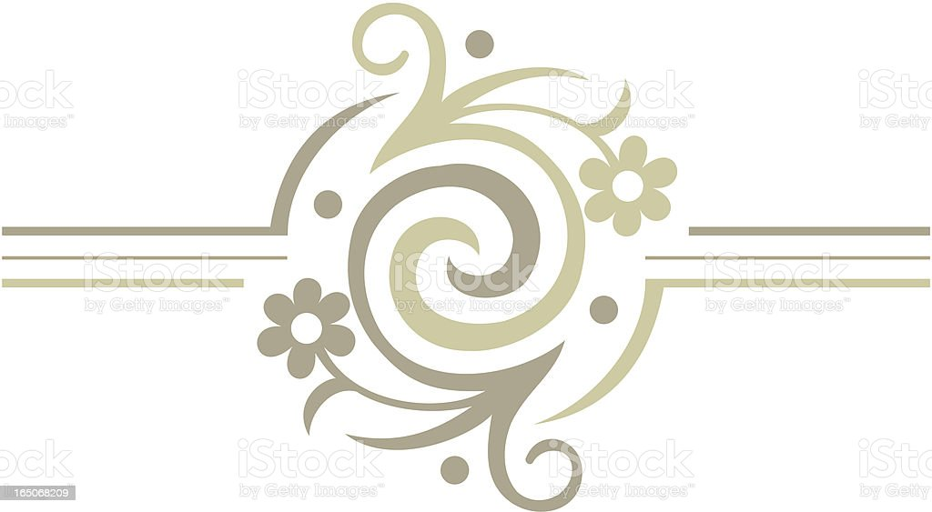 Floral Swirl royalty-free stock vector art