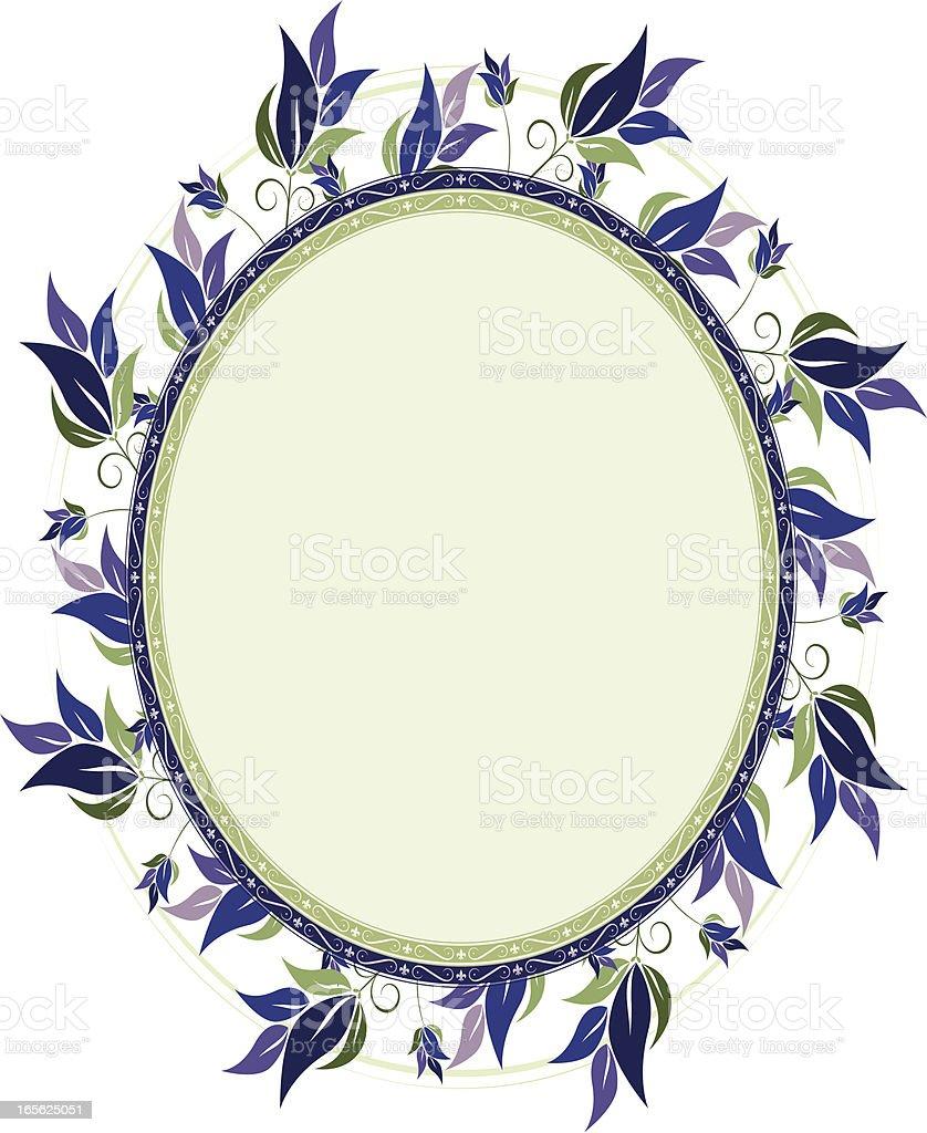 Wirbeln Blumen Hintergrund Design Series – Oval Lizenzfreies vektor illustration