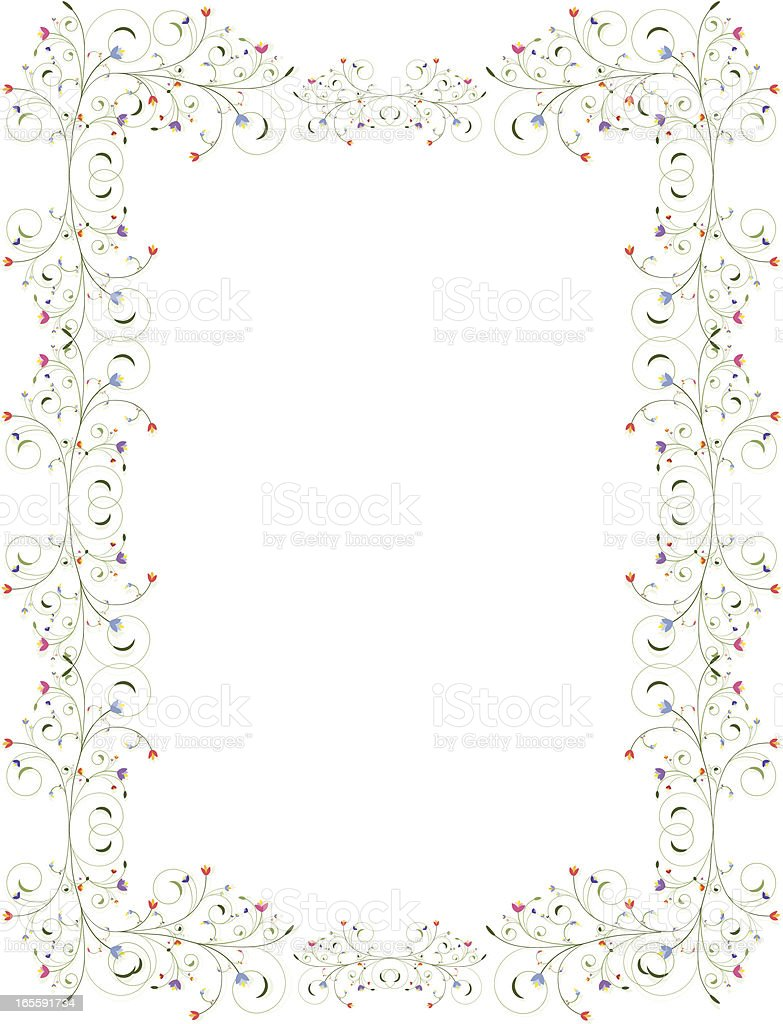 Wirbeln Blumen Grenze-Hintergrund-Design-Serie Lizenzfreies vektor illustration