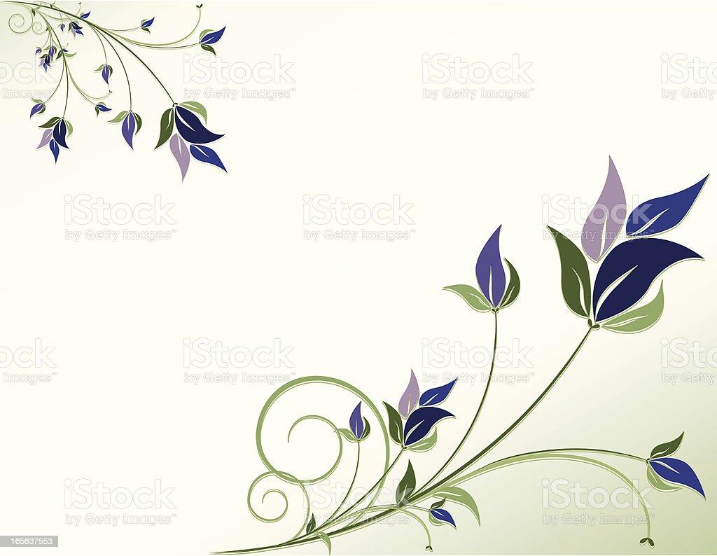 Wirbeln Blumen Ecken Hintergrund Design-Serie Lizenzfreies vektor illustration