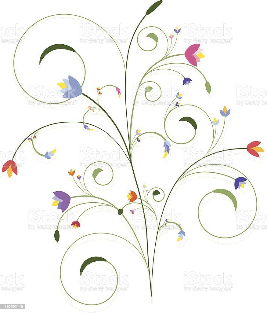 Wirbeln Blumen-Design-Elemente-Serie Lizenzfreies vektor illustration