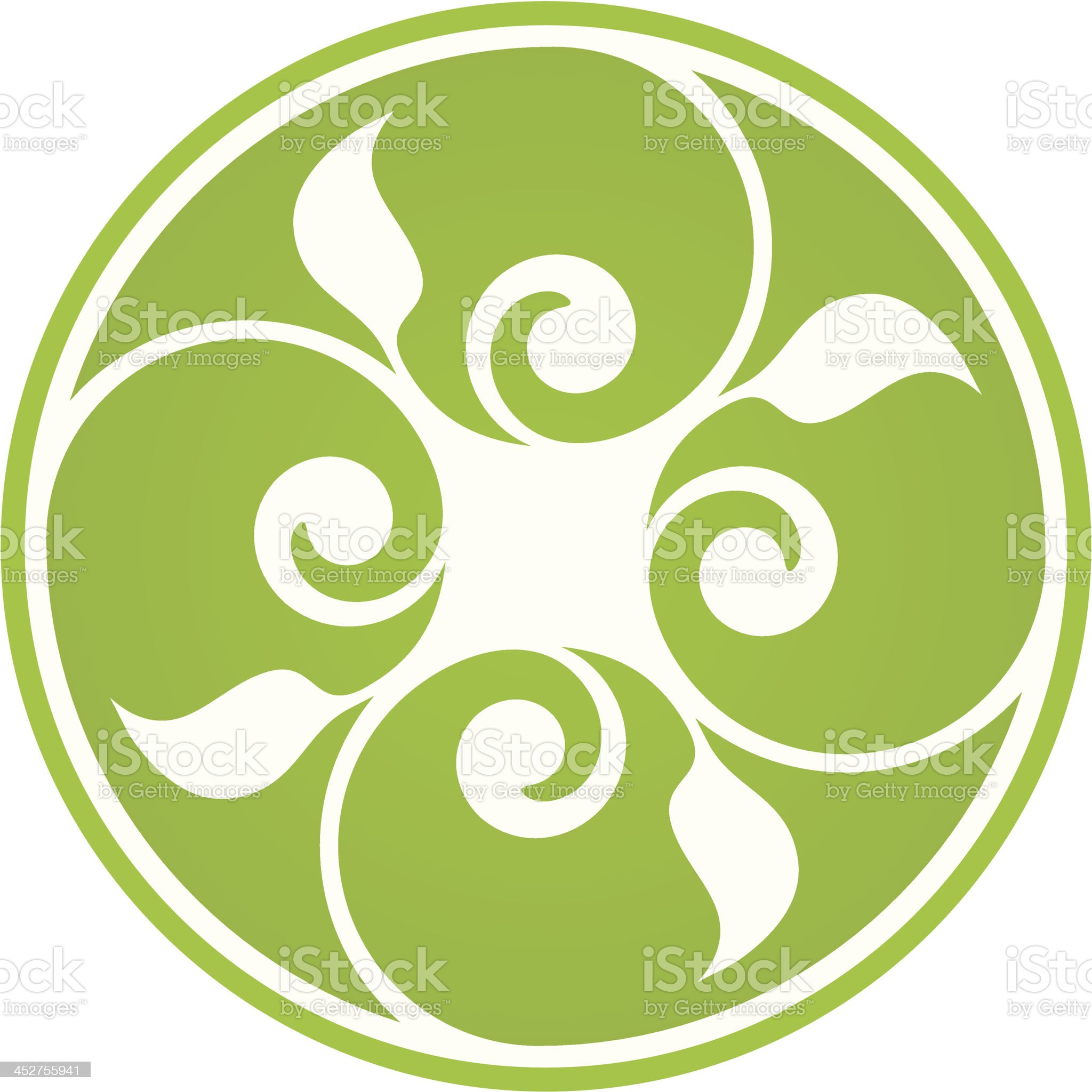 Floral symbol royalty-free stock vector art