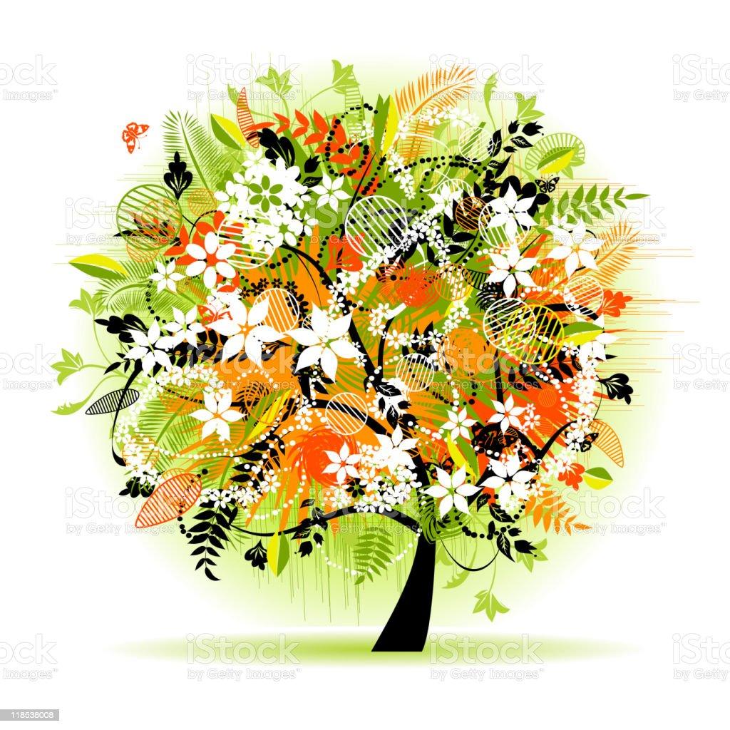 Floral tree beautiful royalty-free stock vector art