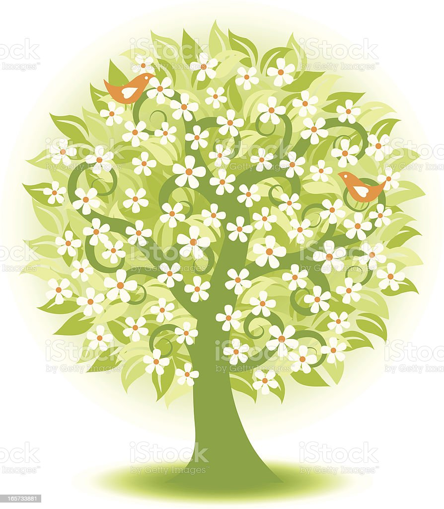 Floral tree . royalty-free stock vector art