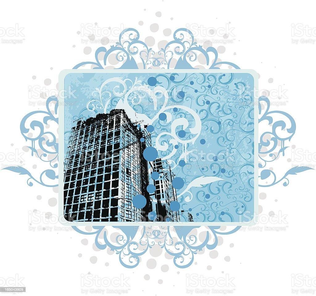 Floral Urban design royalty-free stock vector art