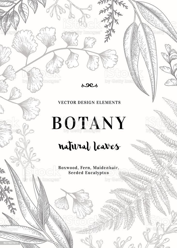 Floral vector background. vector art illustration