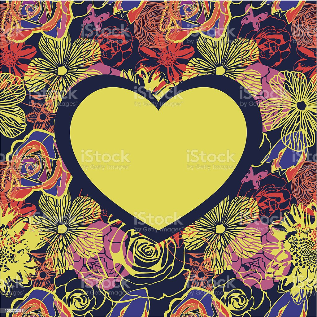 floral vector heart royalty-free stock vector art