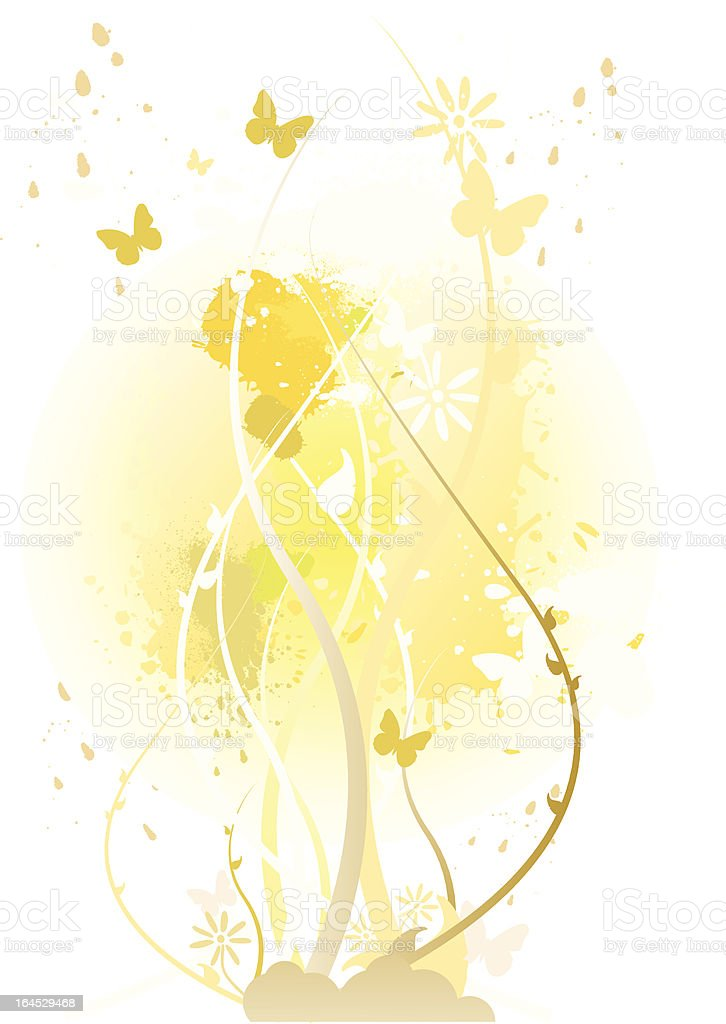 floral vector art illustration