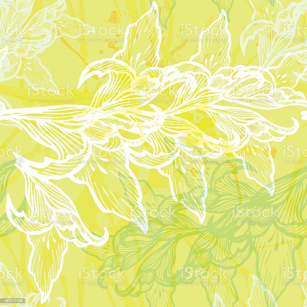 Floral vector seamless pattern. vector art illustration