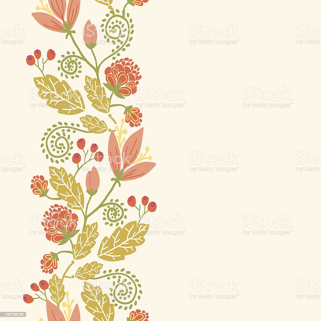 Floral vertical seamless pattern ornament royalty-free stock vector art