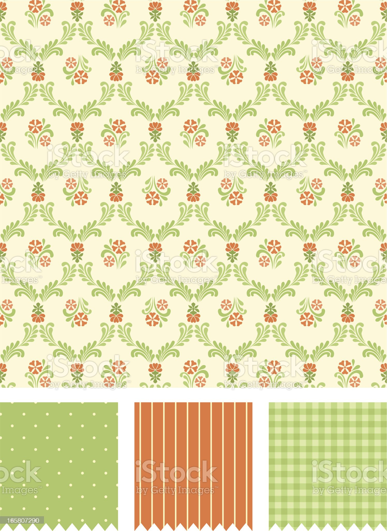Floral victorian pattern royalty-free stock vector art