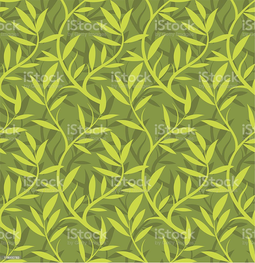 Floral vine pattern (seamless) royalty-free stock vector art