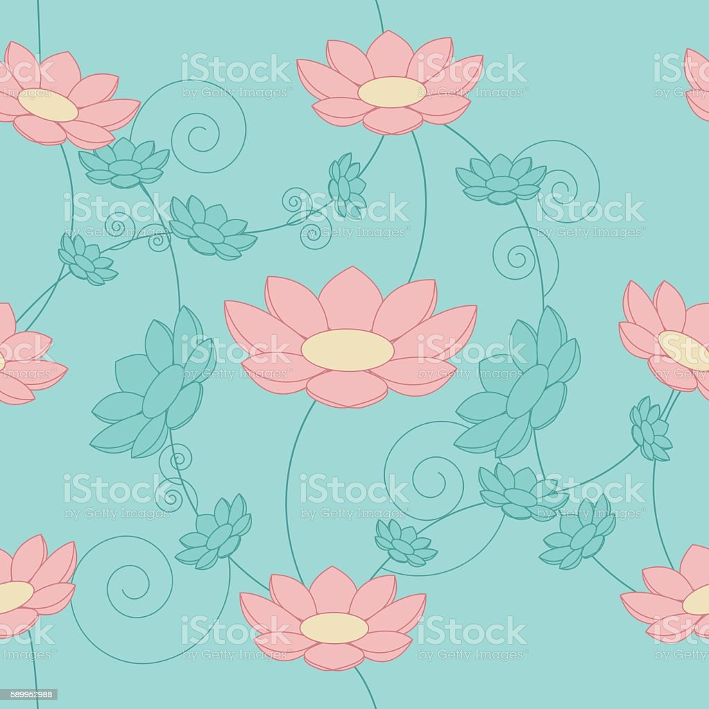Floral vintage seamless background vector art illustration