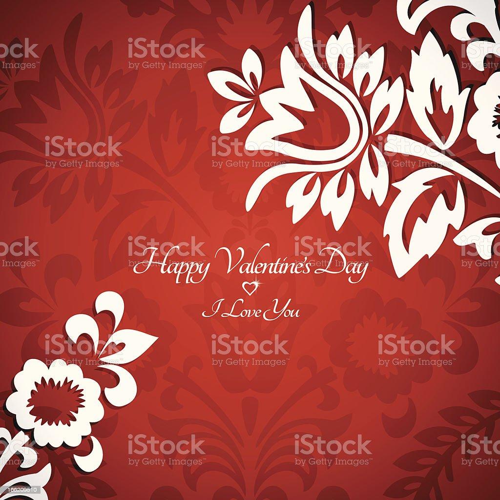 Floral vintage Valentine card royalty-free stock vector art