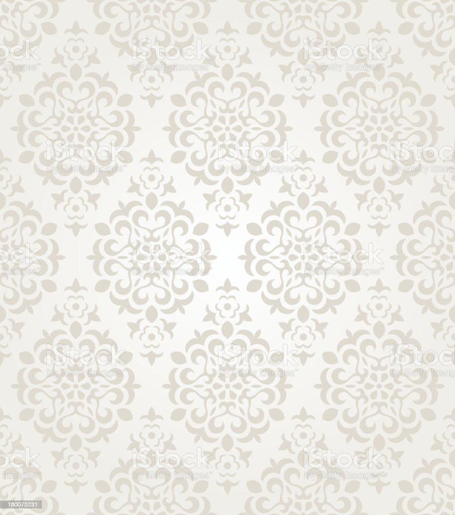Floral vintage wallpaper vector art illustration