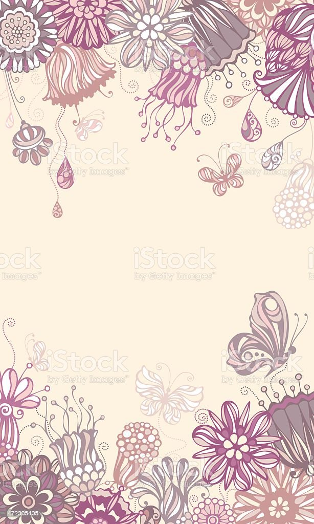 Floral violet background royalty-free stock vector art