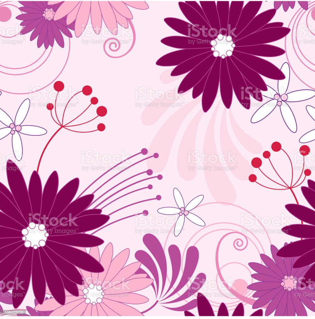 floral violet seamless pattern royalty-free stock vector art