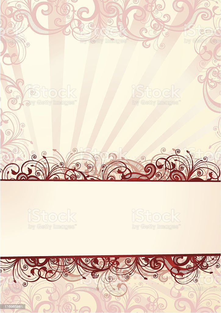 Floral wallpaper with copy-space royalty-free stock vector art