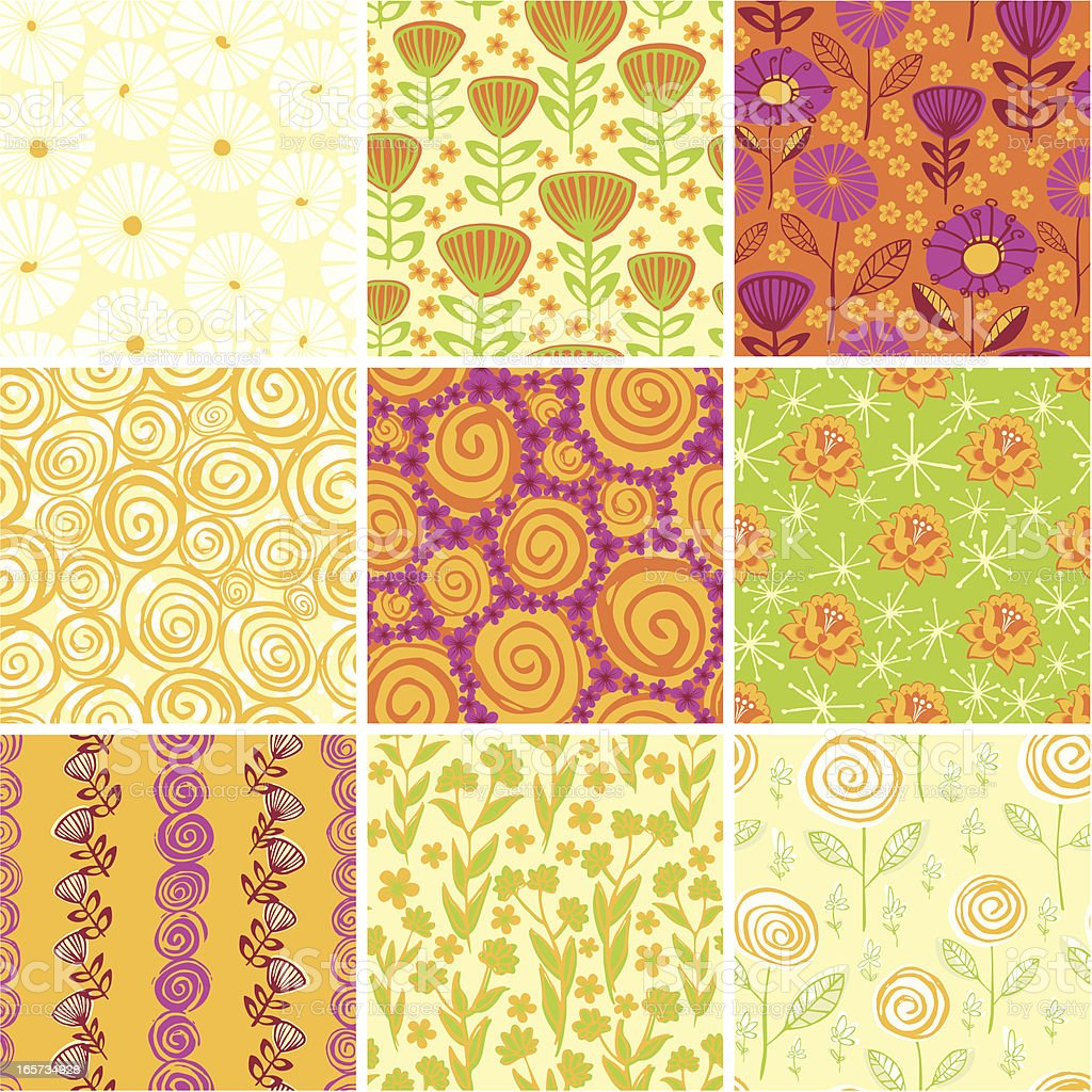 Floral wrapping paper royalty-free stock vector art