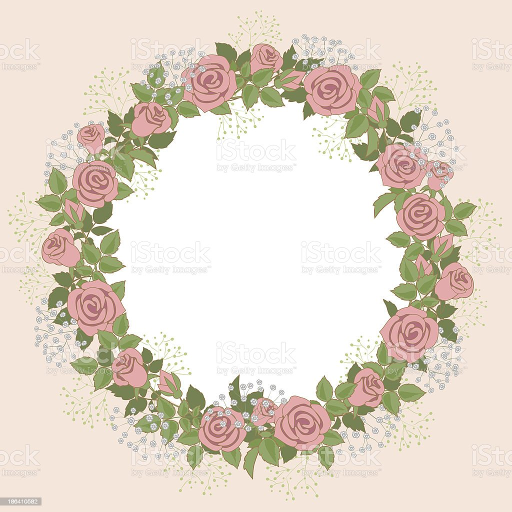 floral wreath royalty-free stock vector art