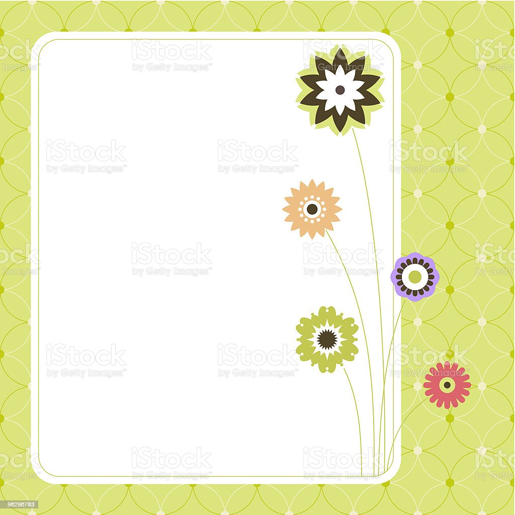 floral_card_green royalty-free stock vector art