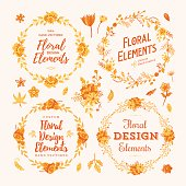 Florals Wreath & Borders Set