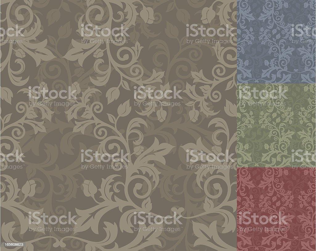 Floras Vertical-run Pattern Strip (Seamless) royalty-free stock vector art