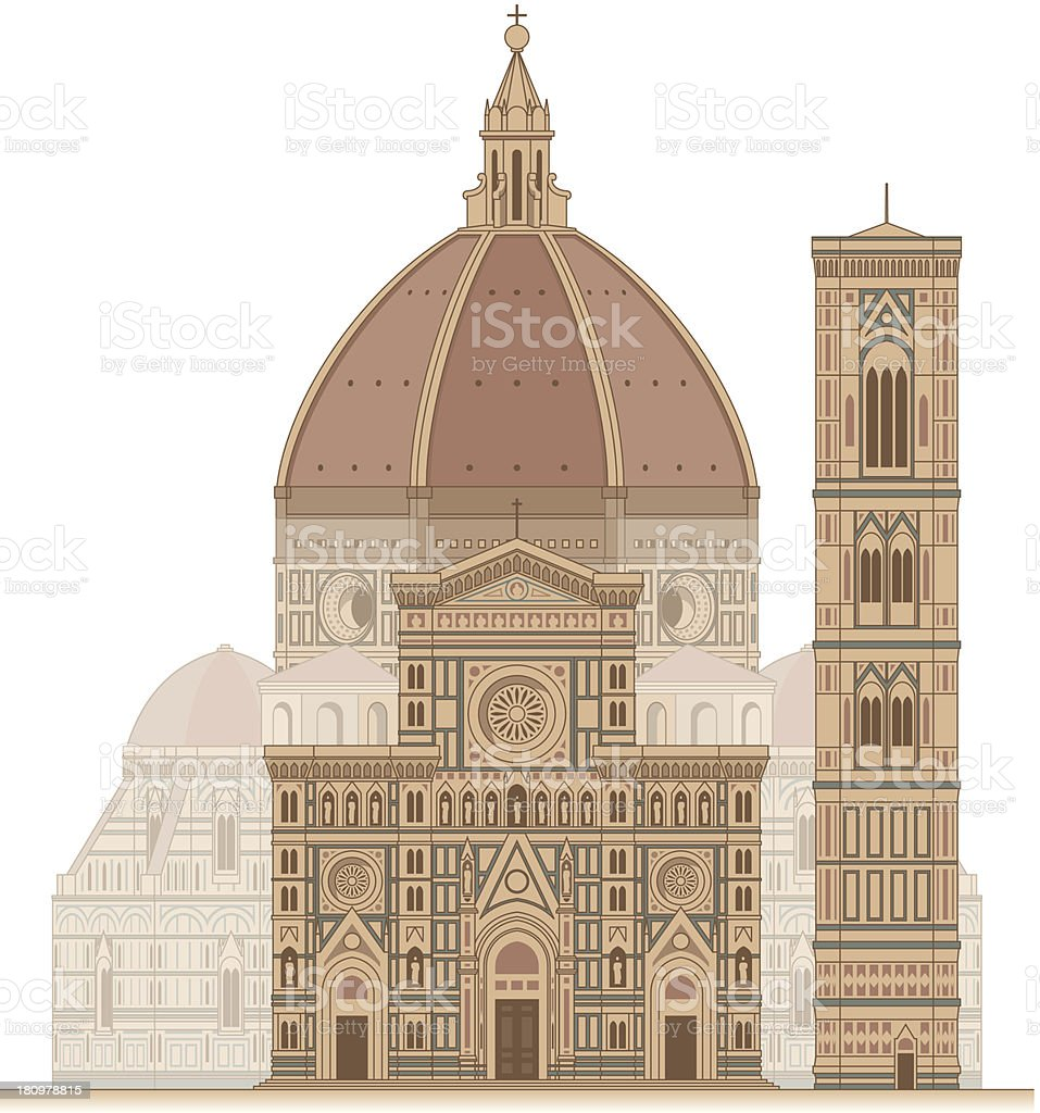 Florence Cathedral vector art illustration