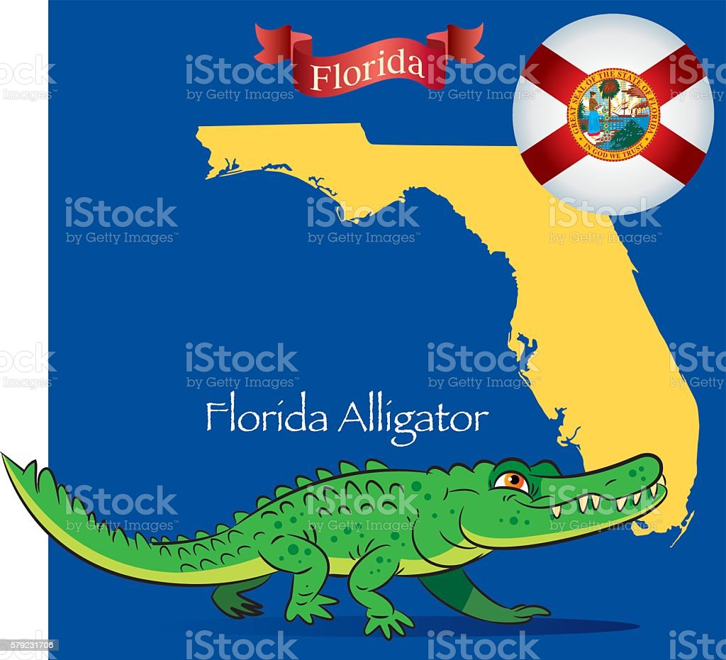 Florida Alligator vector art illustration