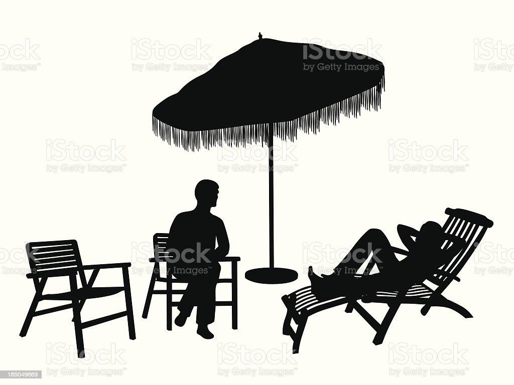 Florida Living Vector Silhouette vector art illustration