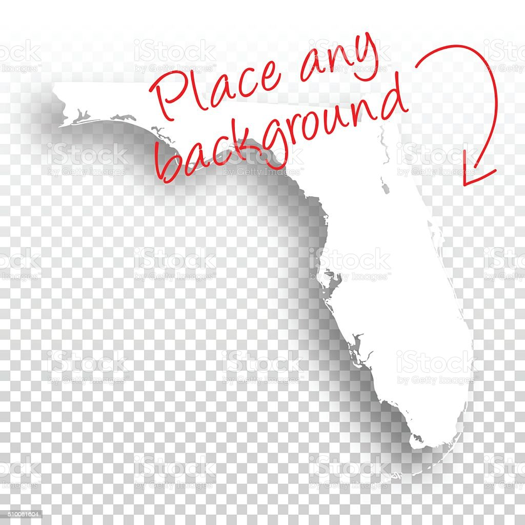 Florida Map For Design Blank Background Stock Vector Art - Florida map picture