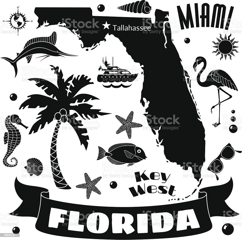 florida map royalty-free stock vector art