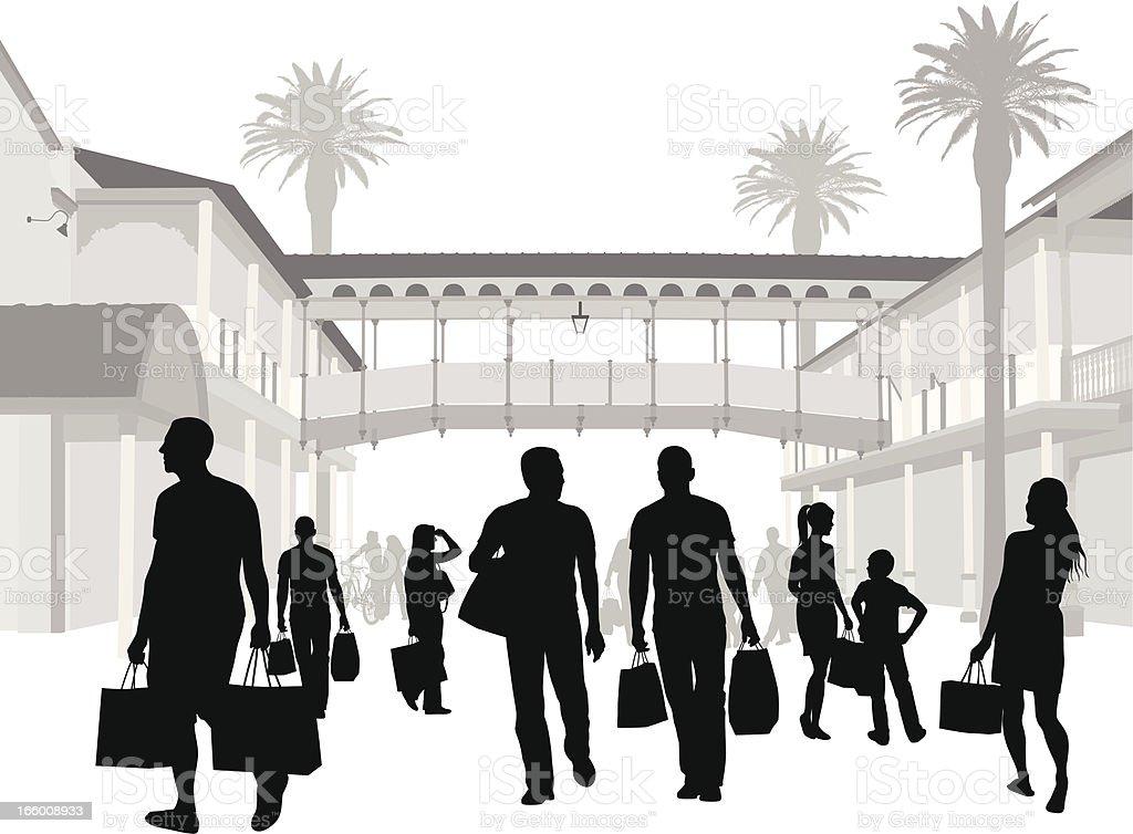Florida Shoppers royalty-free stock vector art