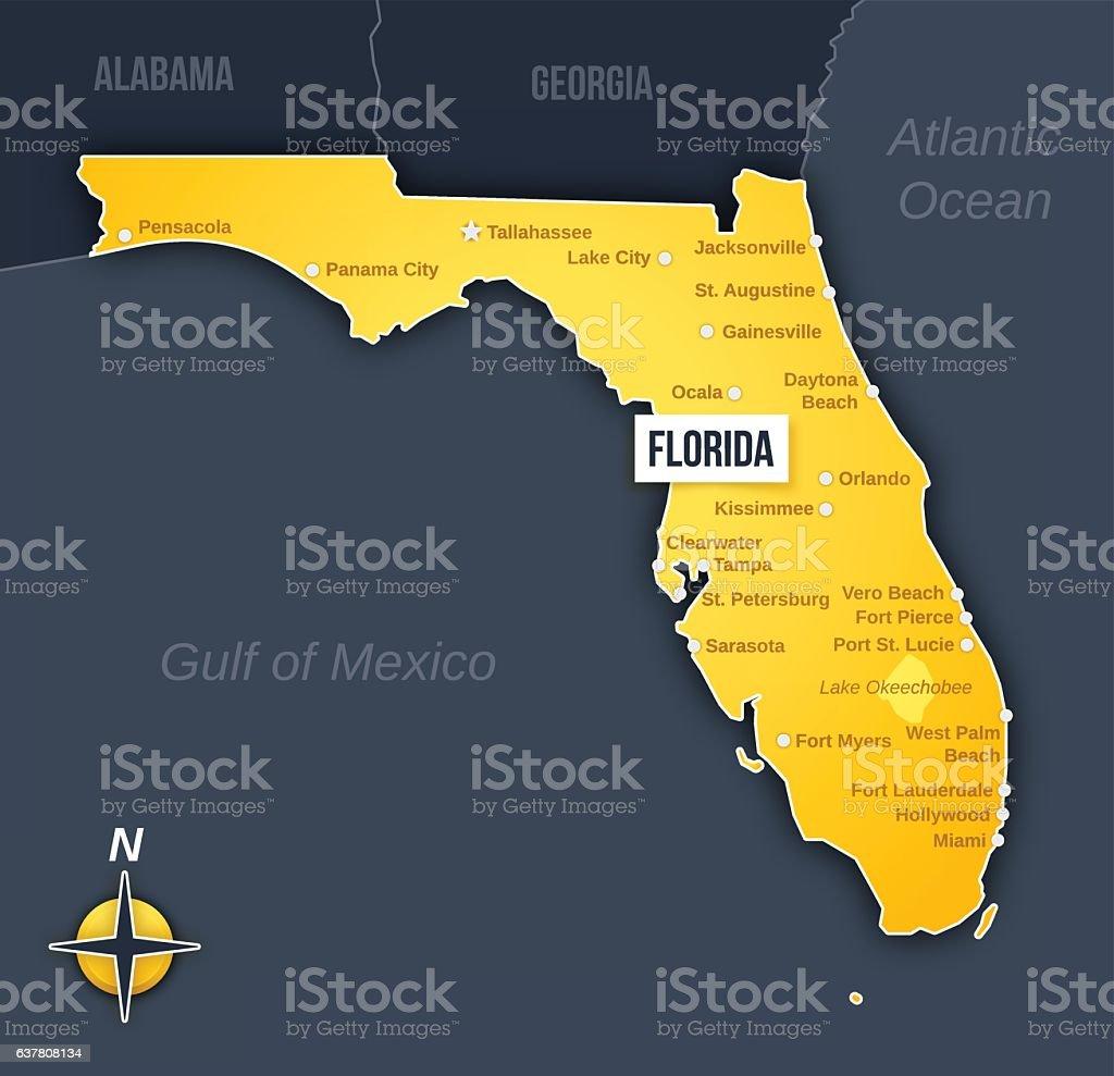 Florida Stock Vector Art  IStock - Florida map vector free