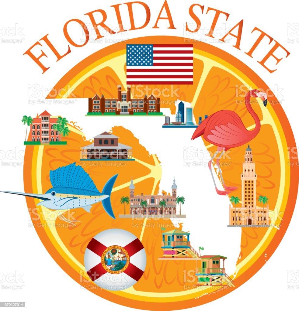 Florida vector art illustration