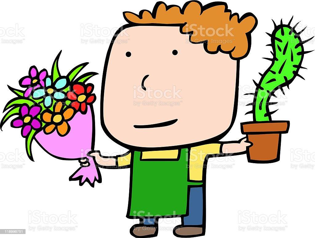 florist vector art illustration