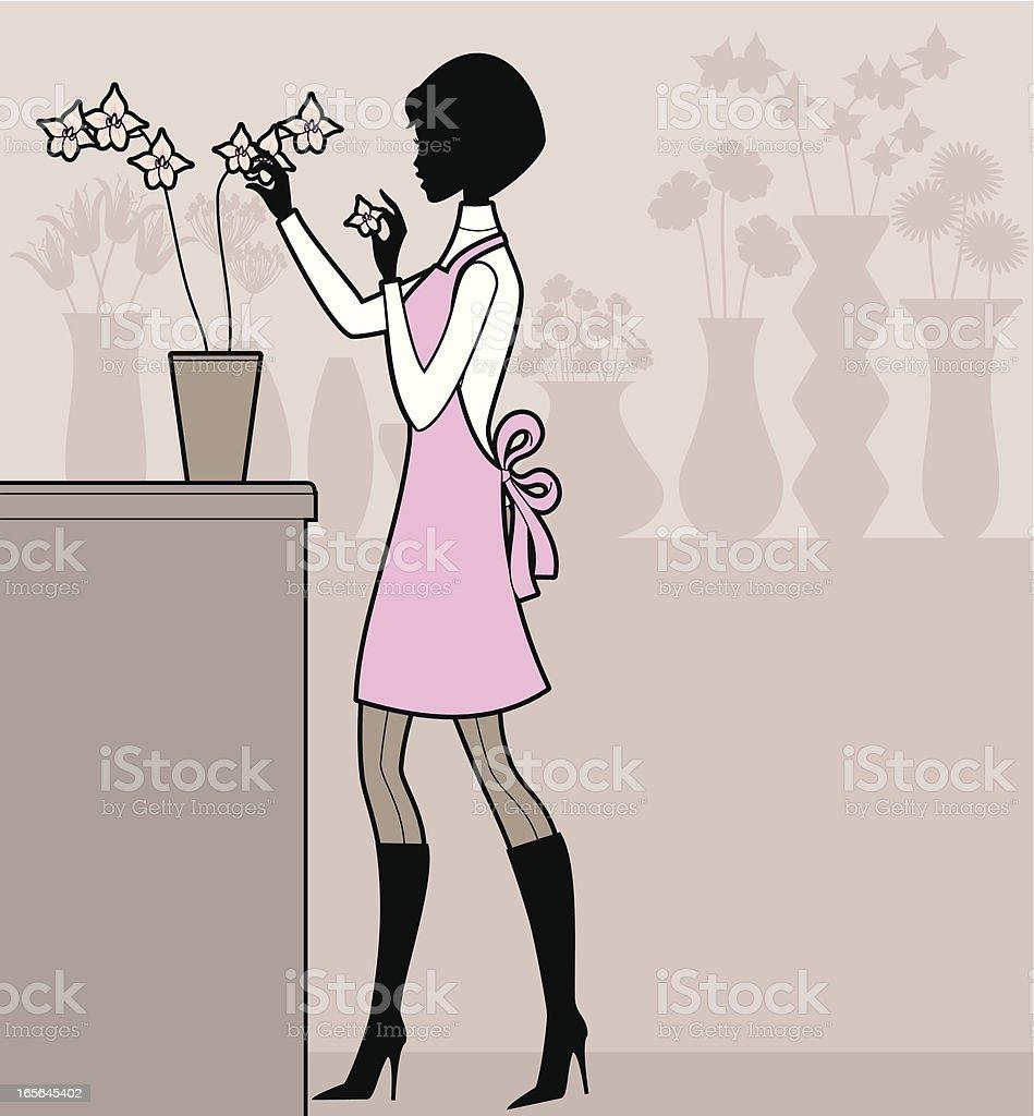 Florist royalty-free stock vector art