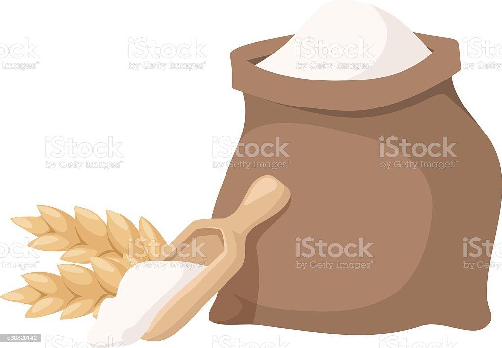 Flour bag vector illustration vector art illustration