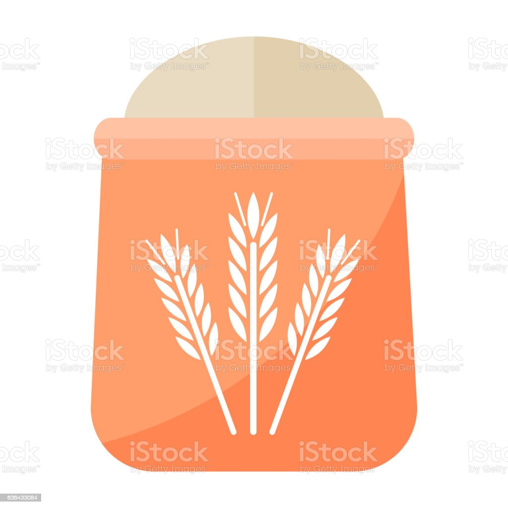 Flour bag vector illustration. vector art illustration