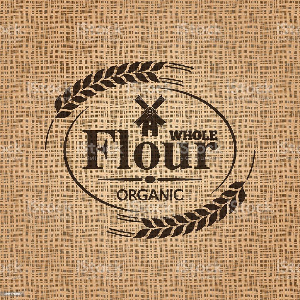 flour sackcloth texture background vector art illustration
