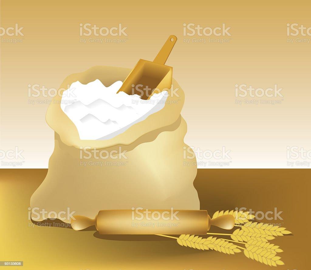 Flour. vector art illustration