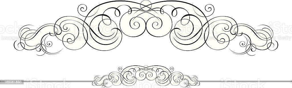 Flourish and Ruleline royalty-free stock vector art