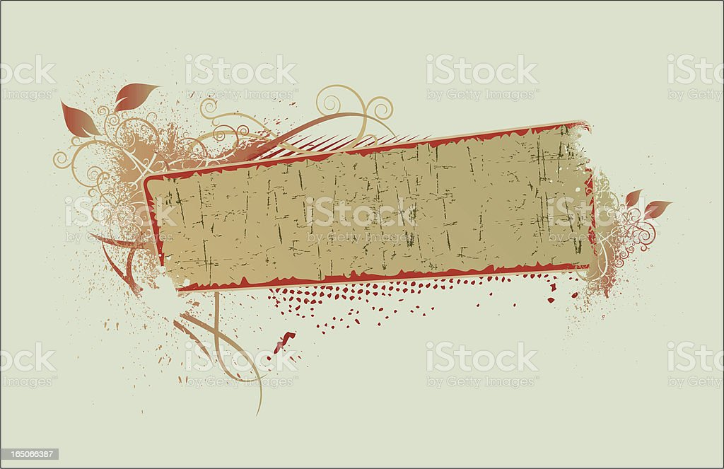 flourish banner IIII royalty-free stock vector art