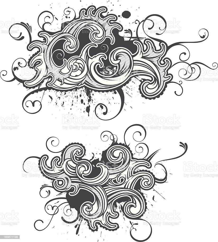 flourish curl royalty-free stock vector art