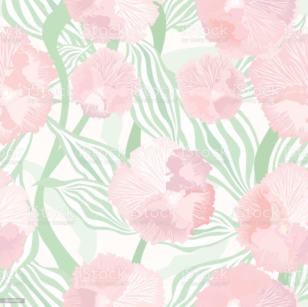 Flourish gentle seamless pattern. royalty-free stock vector art